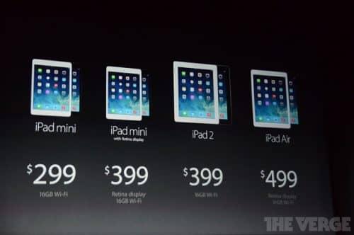 цены на iPad в США
