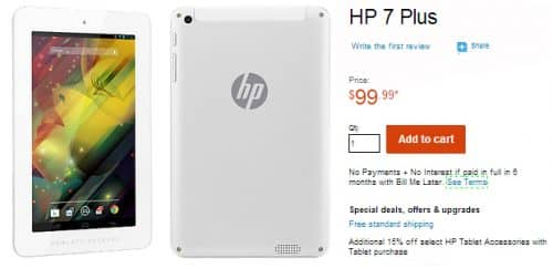 HP выпустил планшет за 100 долл.