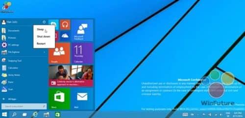видеоролик работы кнопки пуск на Windows 9