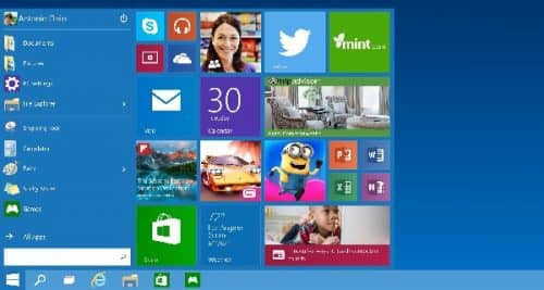 настройка меню Пуск в Windows 10