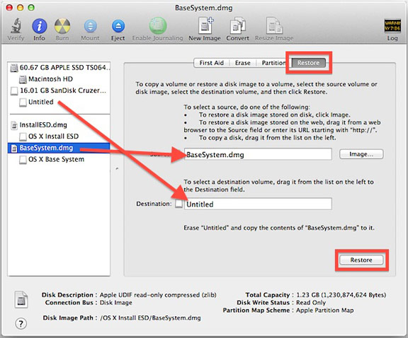 Установка OS X Mavericks с флешки